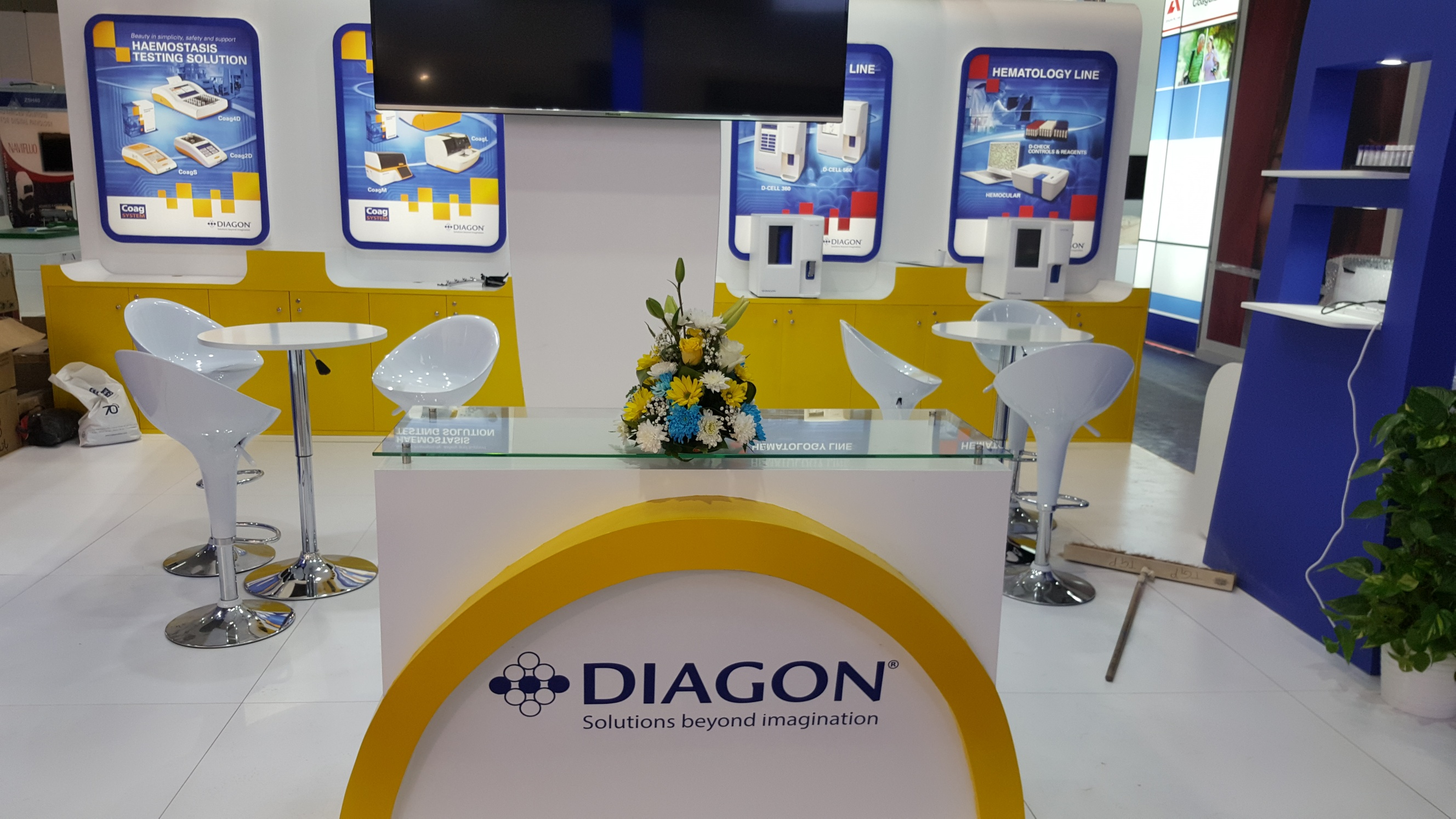 MEDLAB Exhibition Dubai. DIAGON- Hungary.